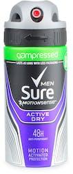 Sure Compressed Active Dry Deodorant 75ml
