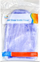 Sure Thermal Hot Water Bottle Faux Fur Fabric Cover Various Colours