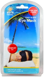 Sure Travel Easy Sleep Eye Mask + Ear Plugs