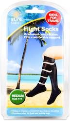 Sure Travel Flight Socks Medium Size Unisex 1 Pair