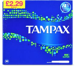 Tampax blue box super 20