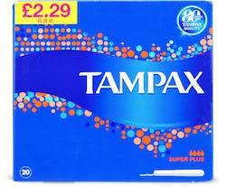 Tampax Super Plus Tampons 20 s'