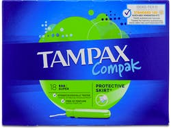 Tampax Compak Super Applicator Tampons 18s