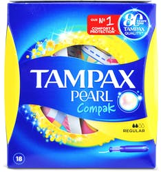 Tampax Pearl Compak Regular with Applicator 18s