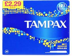 Tampax Regular Tampons 20s