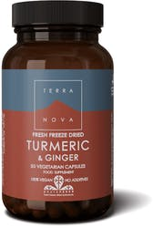 Terranova Turmeric & Ginger (fresh freeze dried- Organic) 50's