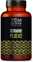 Tom Oliver Nutrition Vitamin D Plus K2 60s