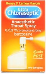 Ultra Chloraseptic Anaesthetic Throat Spray Honey & Lemon 15ml