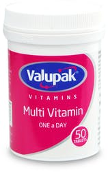 Valupak Multi Vitamins One-A-Day 50 Tablets
