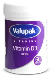 Valupak Vitamin D3 60 tablets