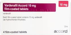 Vardenafil Accord 10mg (PGD) 4 Tablets