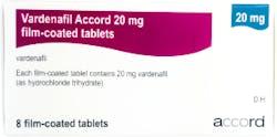Vardenafil Accord 20mg (PGD) 8 Tablets