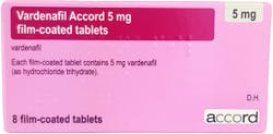 Vardenafil Accord 5mg 8 Tablets