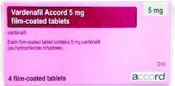 Vardenafil Accord 5mg (PGD) 4 Tablets