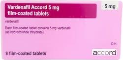 Vardenafil Accord 5mg (PGD) 8 Tablets