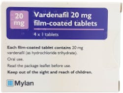 Vardenafil Mylan 20mg 4 Tablets
