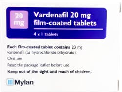 Vardenafil Mylan 20mg (PGD) 4 Tablets