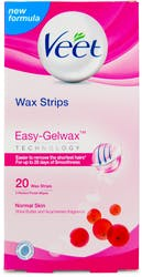 Veet Wax Strips Shea Butter and Acai Berries 20 Wax Strips