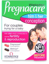 Vitabiotics Pregnacare Him & Her Conception 60 tablets