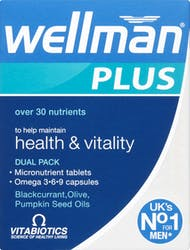 Vitabiotics Wellman Plus 56 Tablets