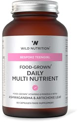 Wild Nutrition Food-Grown Daily Multi Nutrient (TeenGirl) 60 Capsules