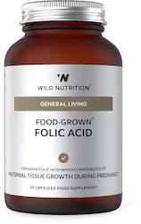Wild Nutrition Food-Grown Folic Acid 30 Capsules