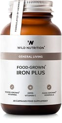 Wild Nutrition Food-Grown Iron Plus 30 caps
