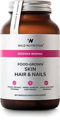 Wild Nutrition Food-Grown Skin, Hair & Nails 60 Capsules