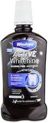 Wisdom Active Whitening Charcoal Mouthwash 500ml