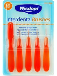 Wisdom Interdental Brushes 0.45mm 5s