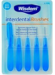 Wisdom Interdental Brushes 0.6mm 5s