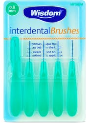 Wisdom Interdental Brushes 0.8mm 5s