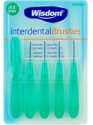 Wisdom Interdental Brushes 0.8mm 5s