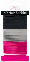 Zazie Hair Bobbles In Pink Grey Black 40pcs