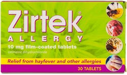 Zirtek Allergy Relief 30 Tablets