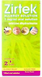 Zirtek Allergy Solution Once a Day 150ml